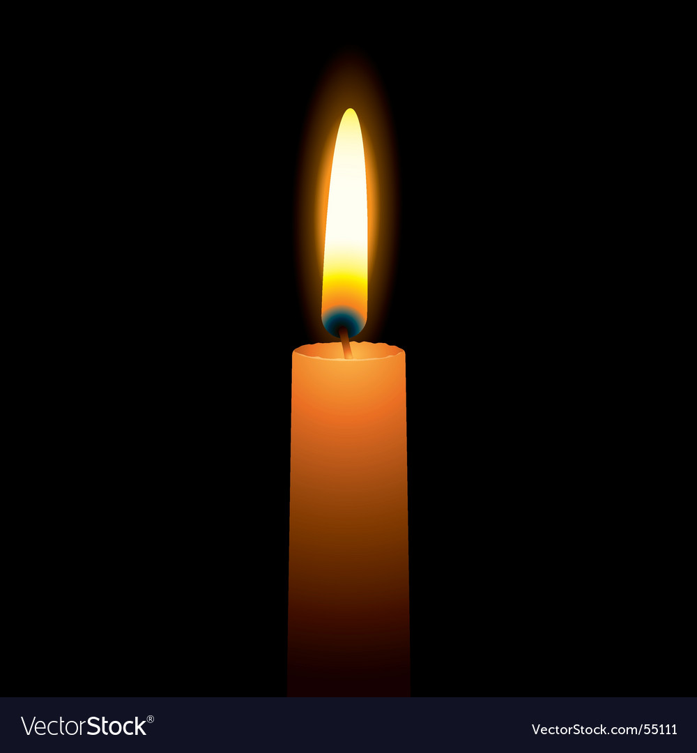 Bright candle vector | Price: 1 Credit (USD $1)