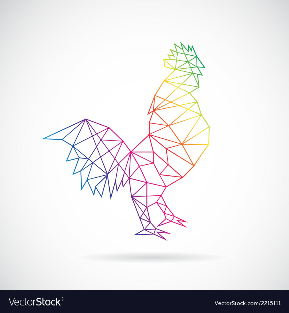 Chicken abstract vector | Price: 1 Credit (USD $1)
