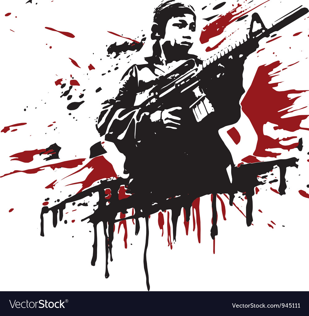Child soldier vector | Price: 1 Credit (USD $1)
