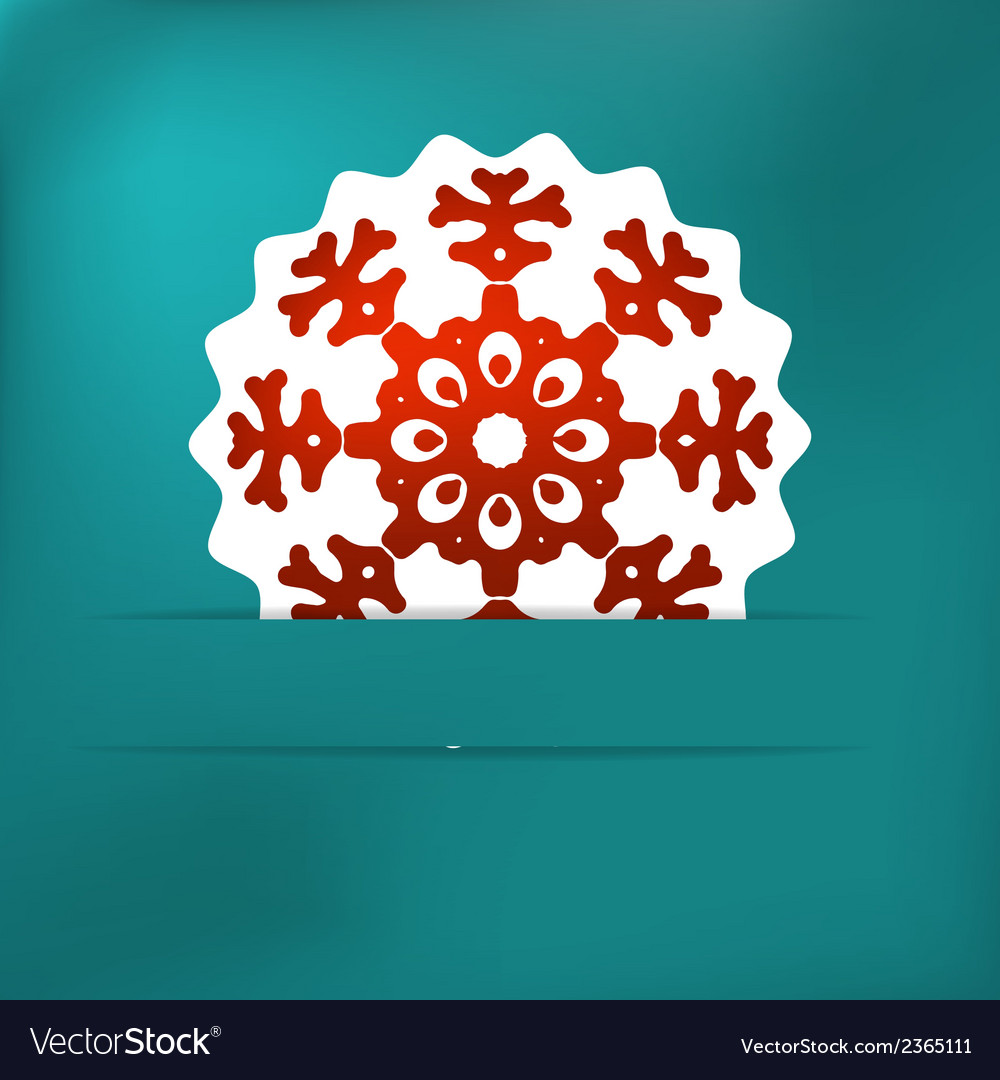 Christmas snowflake applique  eps8 vector | Price: 1 Credit (USD $1)