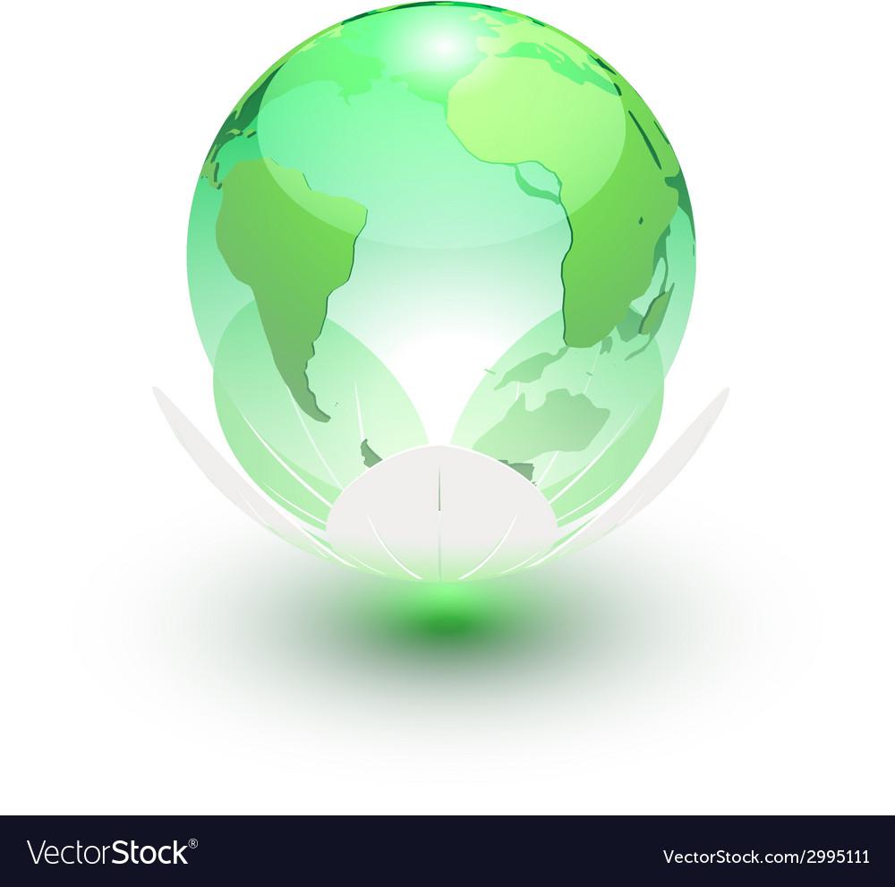 Earth globe icon vector | Price: 1 Credit (USD $1)