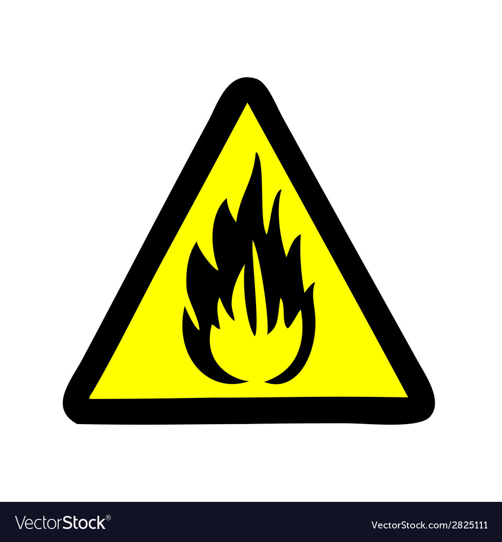Fire symbol sign vector | Price: 1 Credit (USD $1)