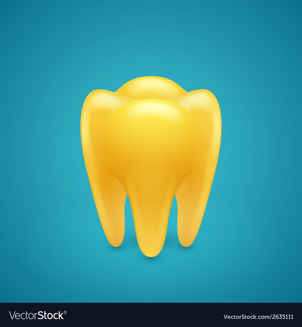 Gold human teeth vector | Price: 1 Credit (USD $1)
