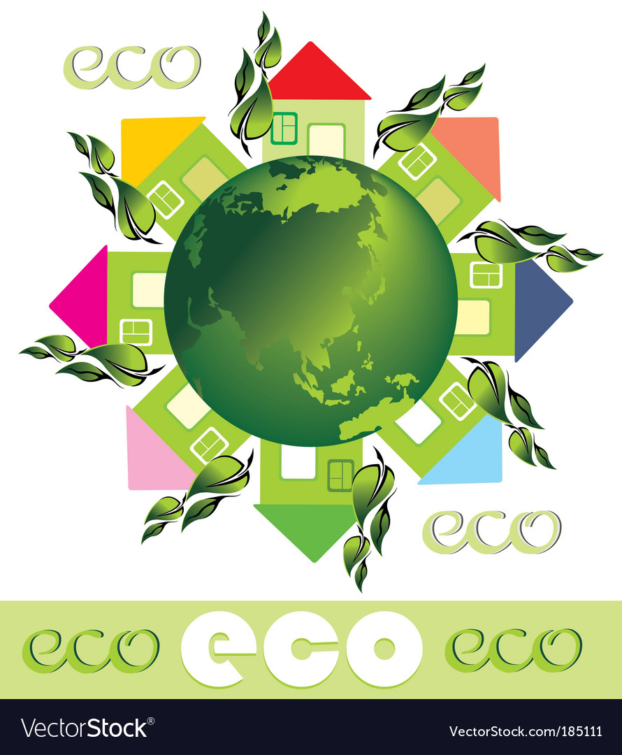 Green eco earth vector | Price: 1 Credit (USD $1)
