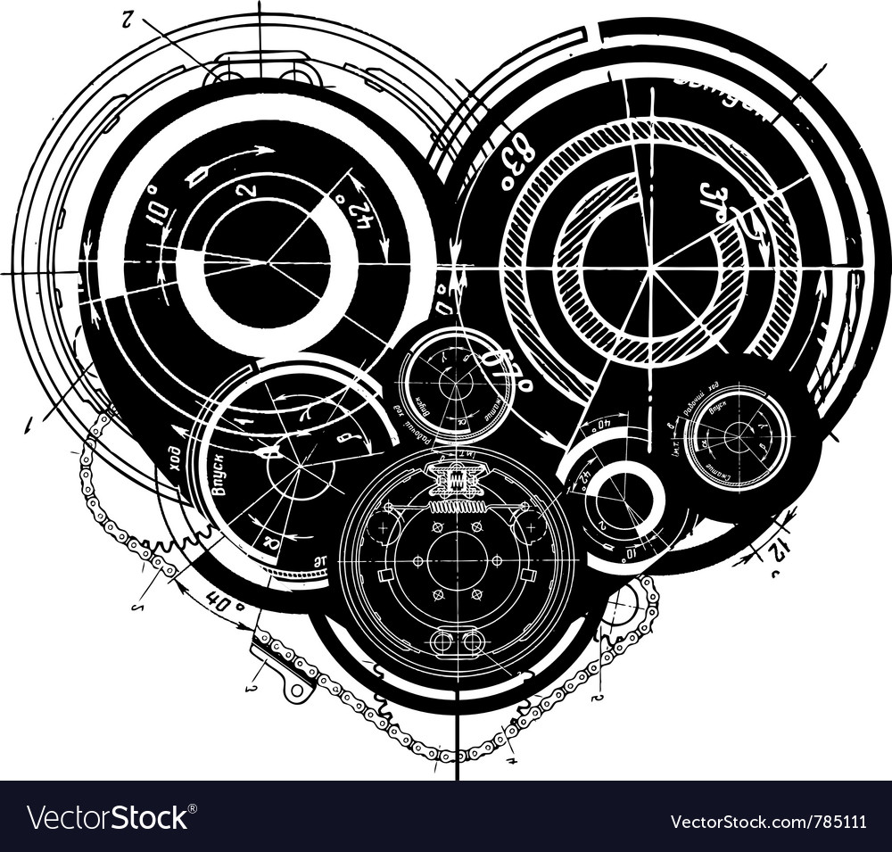 Heart mechanisms vector | Price: 1 Credit (USD $1)