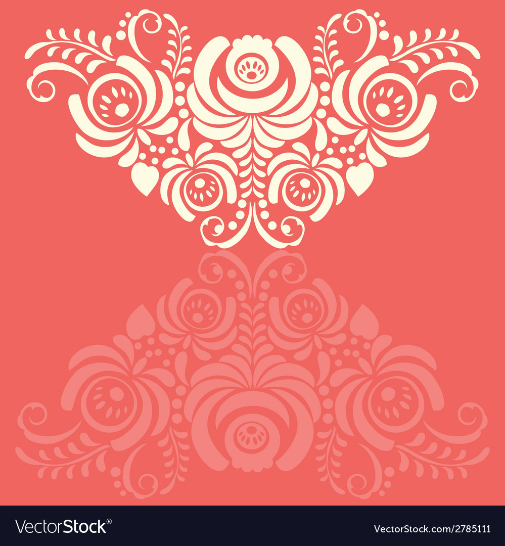 Ornate background in traditional russian style vector | Price: 1 Credit (USD $1)
