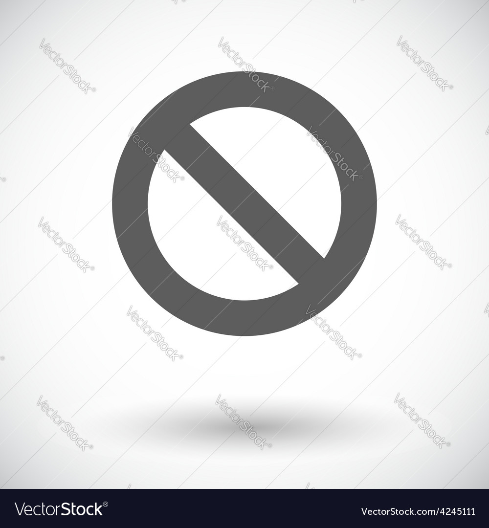 Prohibition sign vector | Price: 1 Credit (USD $1)