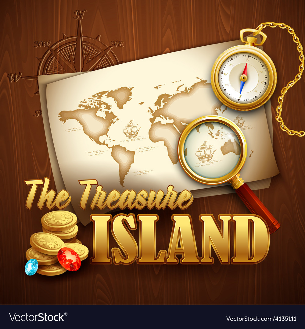 Treasure island template vector | Price: 3 Credit (USD $3)