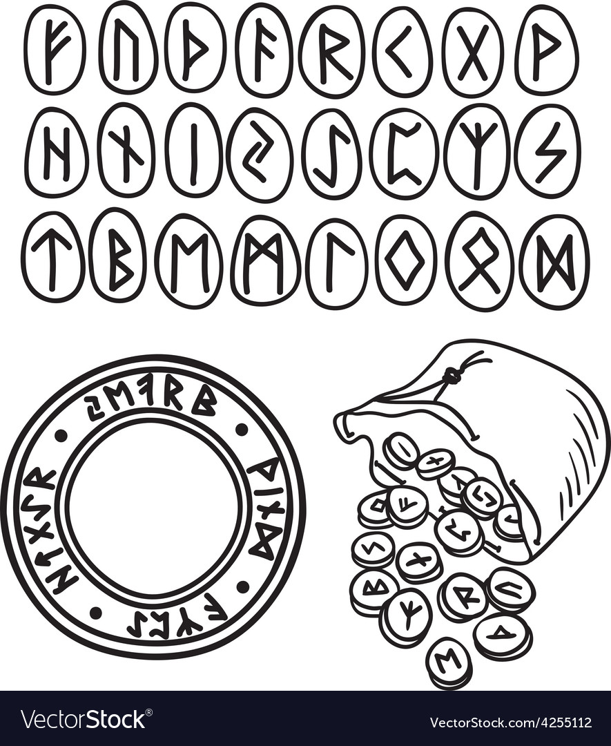 Ancient runes drawing vector | Price: 1 Credit (USD $1)