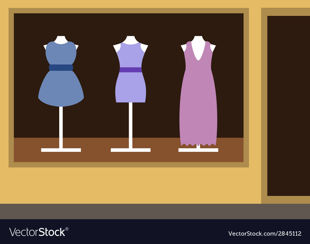 Boutique womens clothing shop vector | Price: 1 Credit (USD $1)