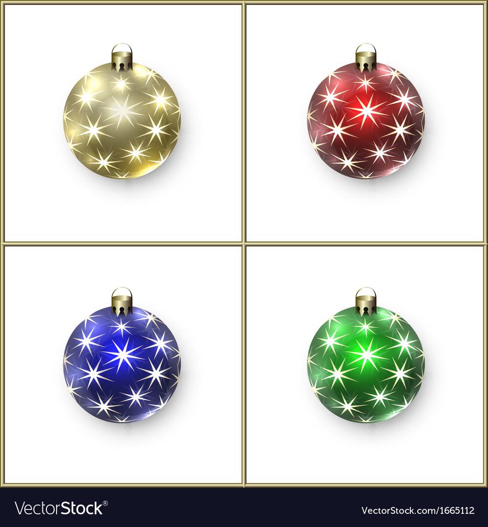Christmas decoration balls vector | Price: 1 Credit (USD $1)