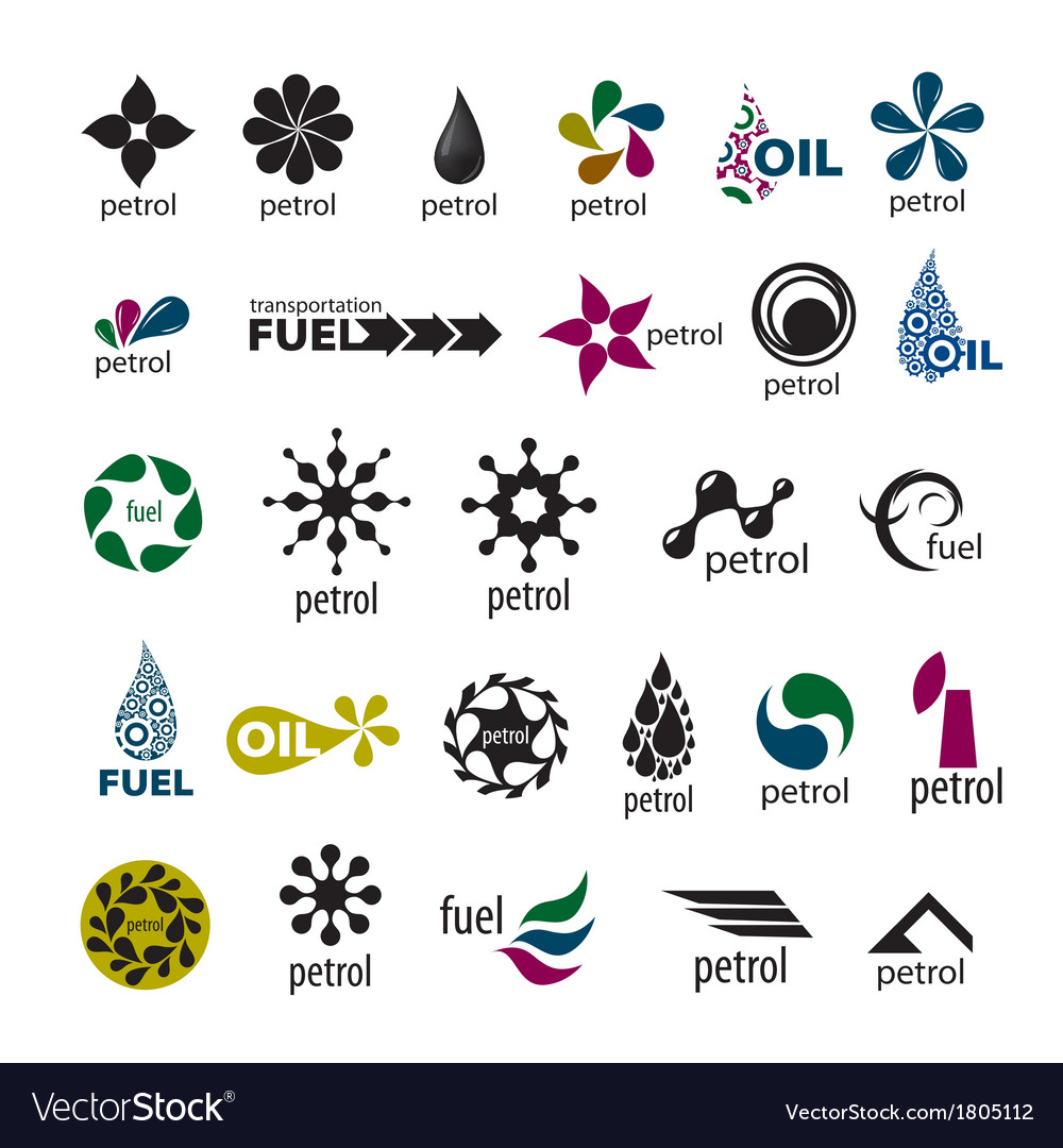 Collection of logos and fuel oil vector | Price: 1 Credit (USD $1)