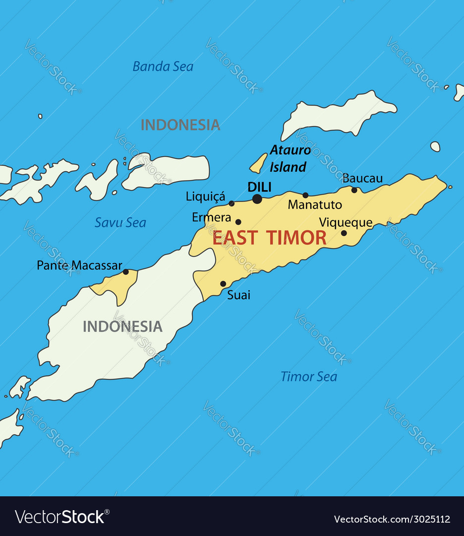 East timor - map vector | Price: 1 Credit (USD $1)