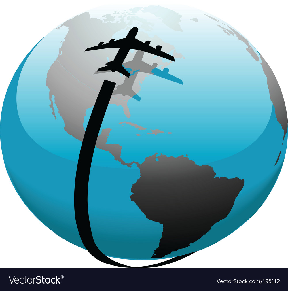 Flight path vector | Price: 1 Credit (USD $1)
