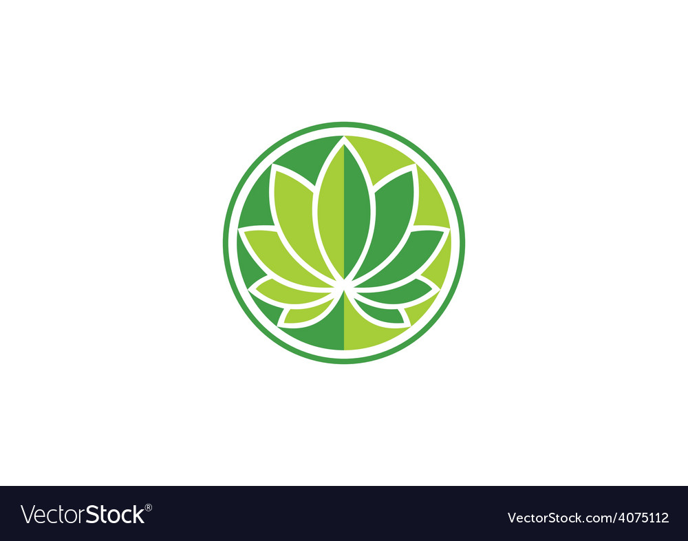 Leaf round lotus spa logo vector | Price: 1 Credit (USD $1)