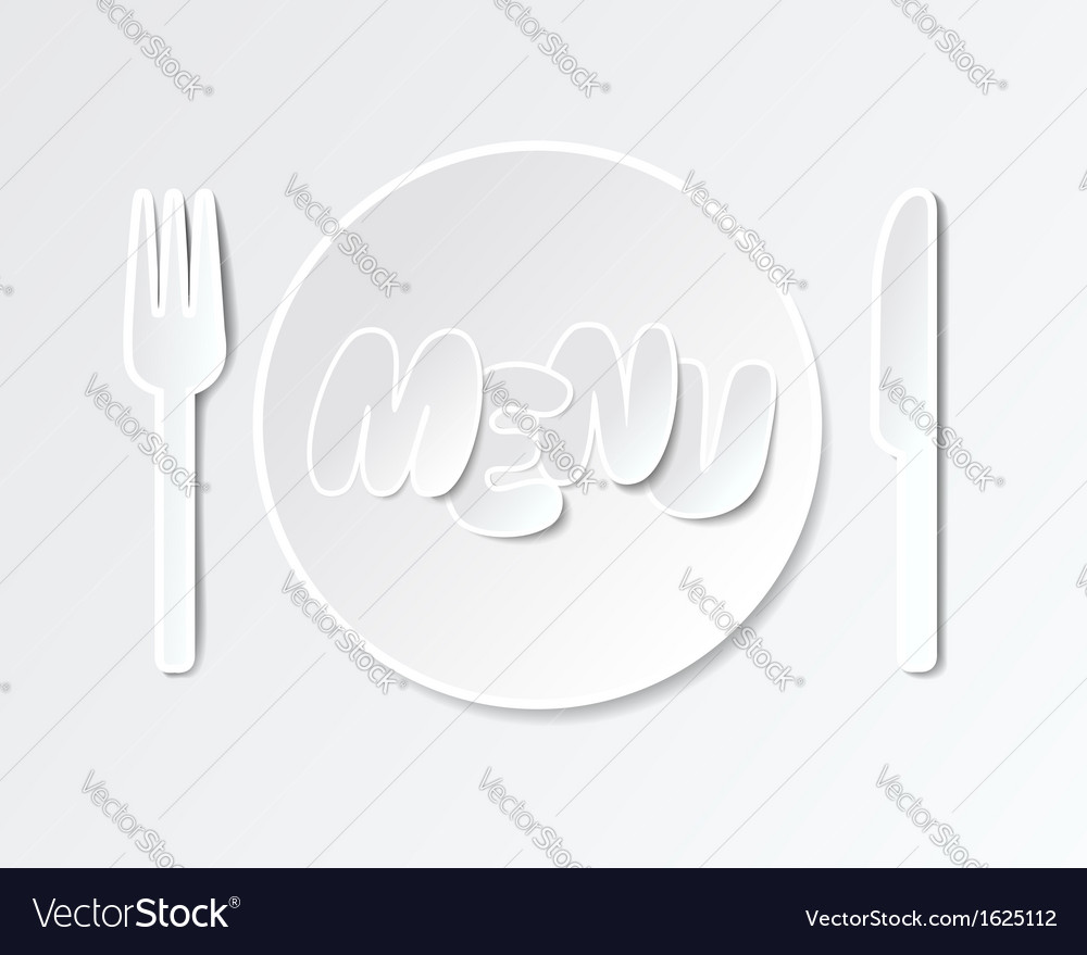 Paper tableware background for menus vector | Price: 1 Credit (USD $1)