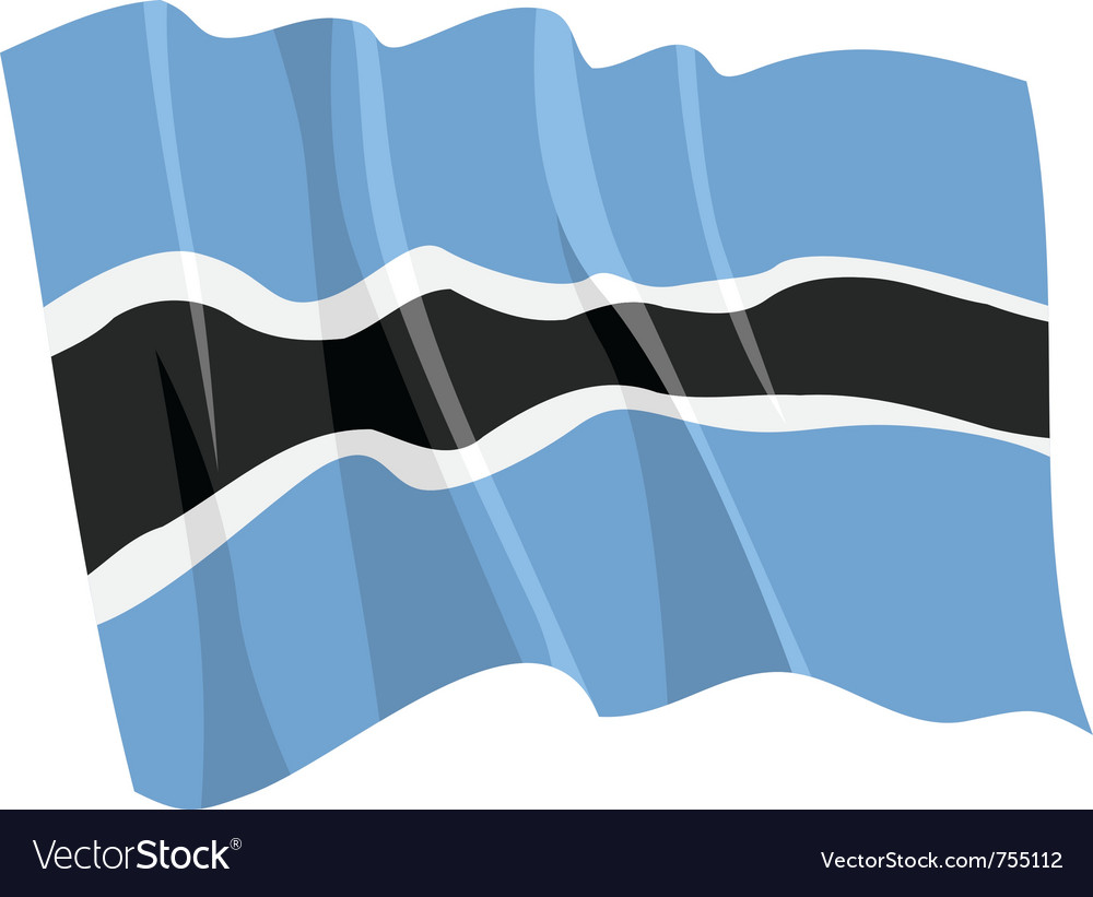 Political waving flag of botswana vector | Price: 1 Credit (USD $1)