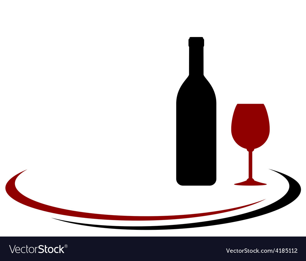 Red wine bottle and glass background vector | Price: 1 Credit (USD $1)