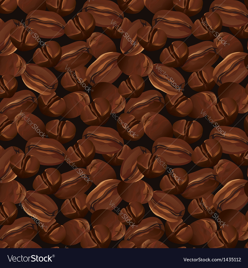 Seamless background with coffee beans vector | Price: 1 Credit (USD $1)