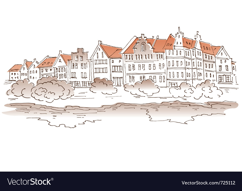Sketch - view of the city vector | Price: 1 Credit (USD $1)