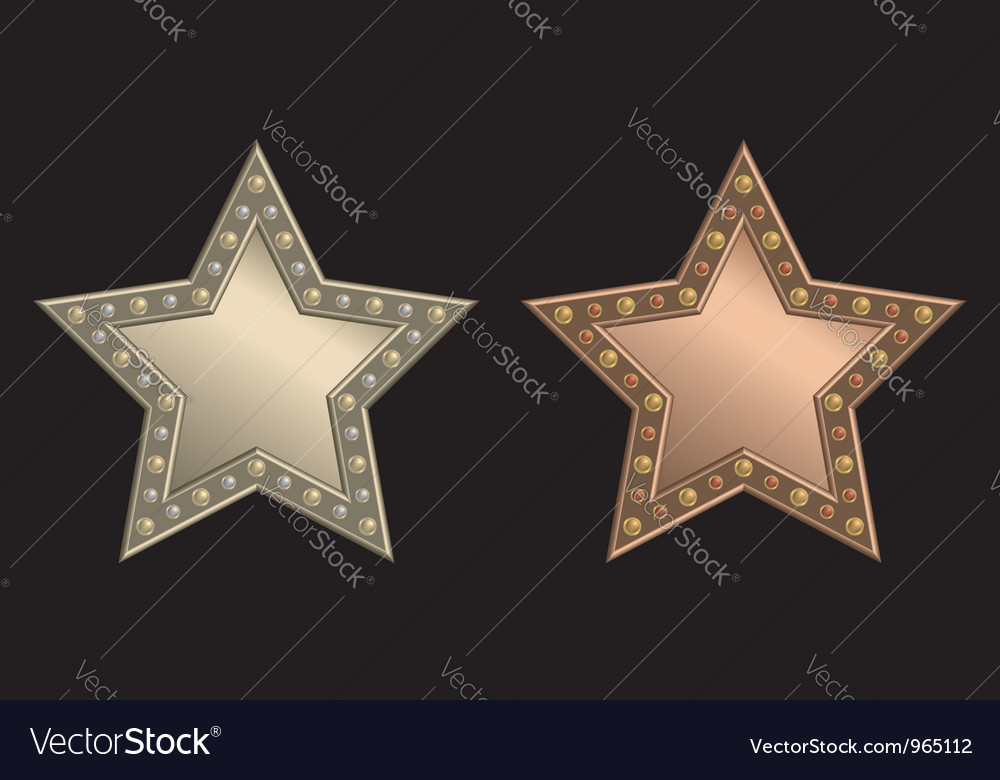 Star plaque vector | Price: 1 Credit (USD $1)