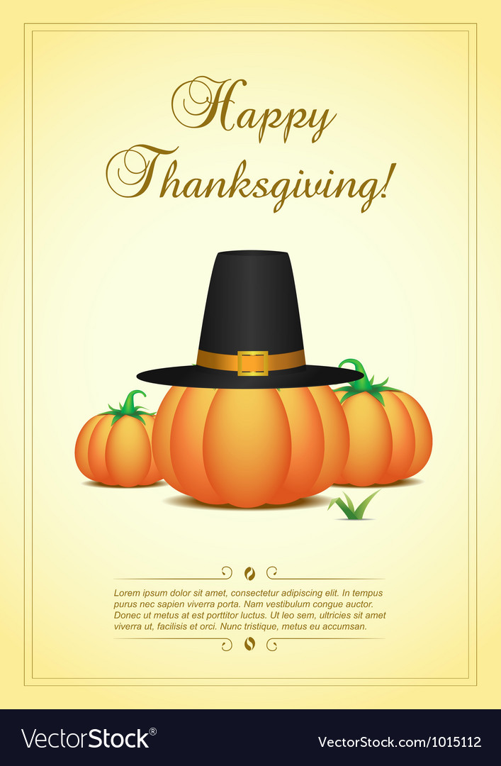 Thanksgiving card vector | Price: 3 Credit (USD $3)