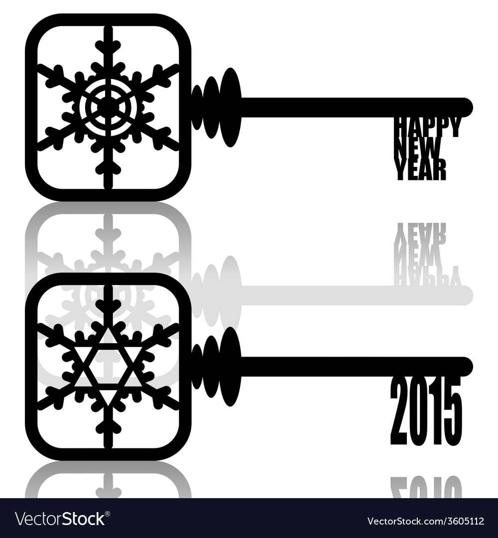 Unlock new year vector