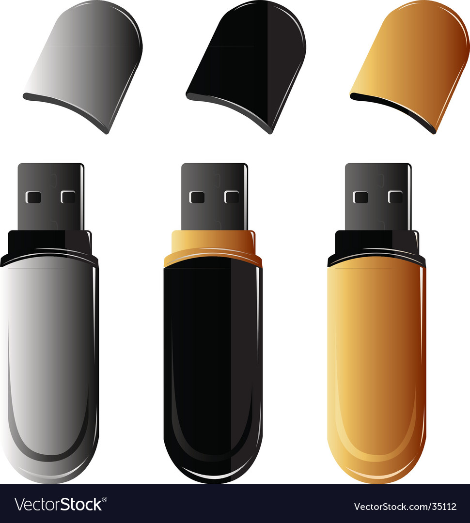 Usb keys vector | Price: 1 Credit (USD $1)