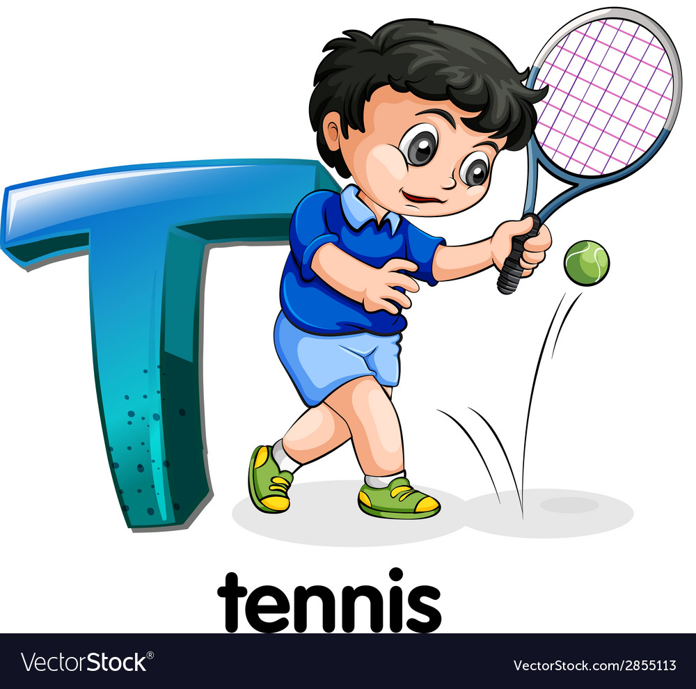 A letter t for tennis vector | Price: 1 Credit (USD $1)