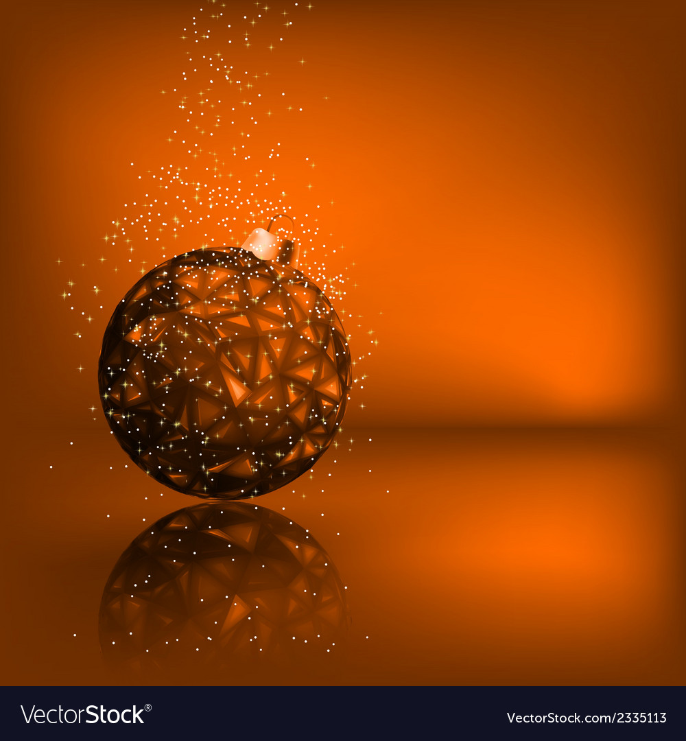 Background with stars and christmas ball eps 8 vector | Price: 1 Credit (USD $1)