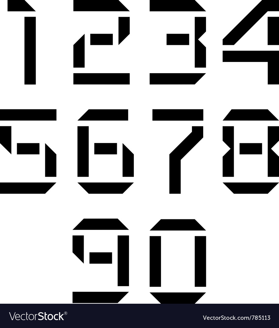 Display numbers vector | Price: 1 Credit (USD $1)