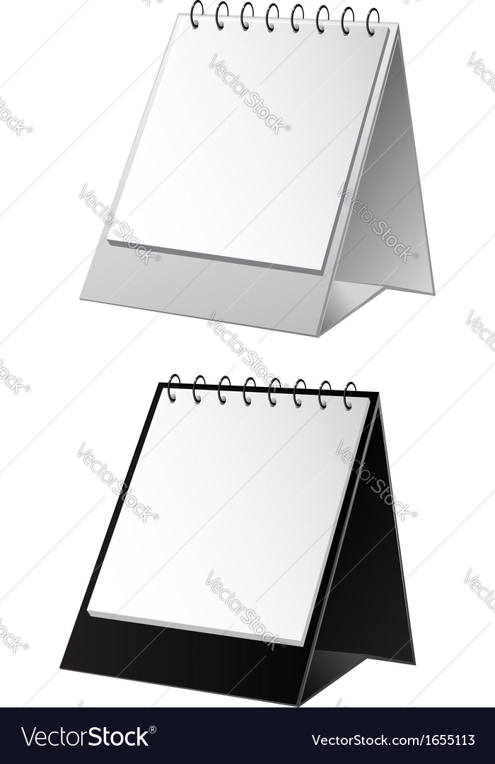 Empty white and black background for calendar vector | Price: 1 Credit (USD $1)