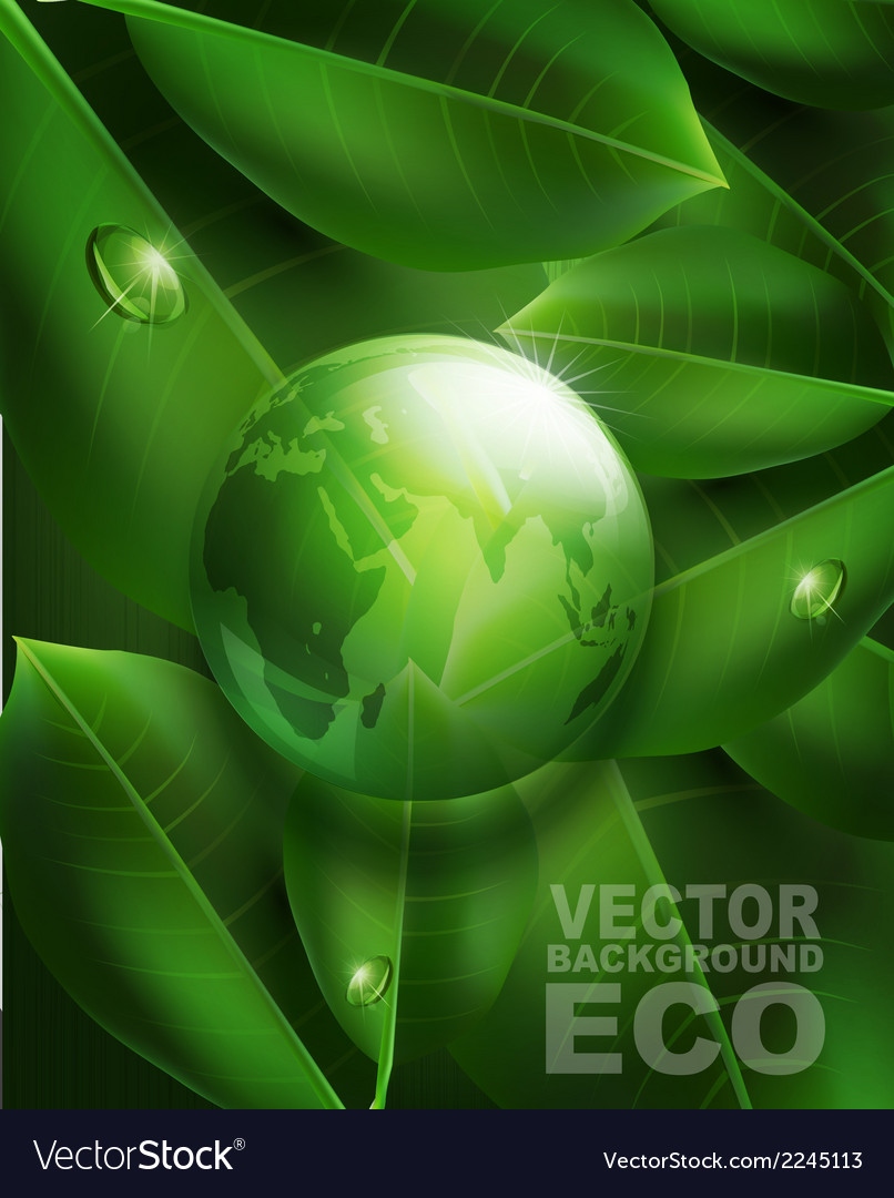 Environmental background with transparent green ba vector | Price: 1 Credit (USD $1)