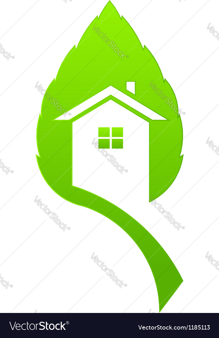 Green house vector | Price: 1 Credit (USD $1)