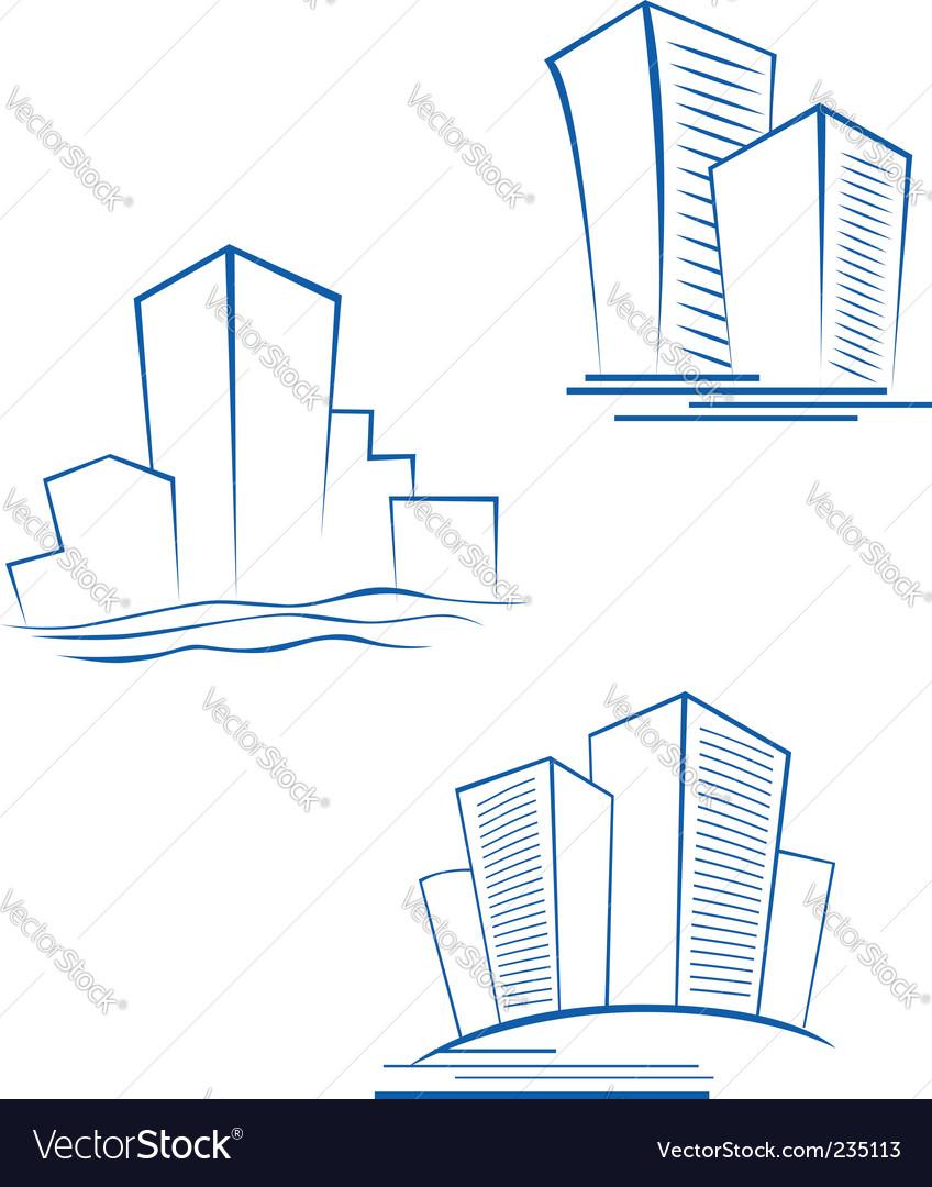Real estate symbols vector | Price: 1 Credit (USD $1)