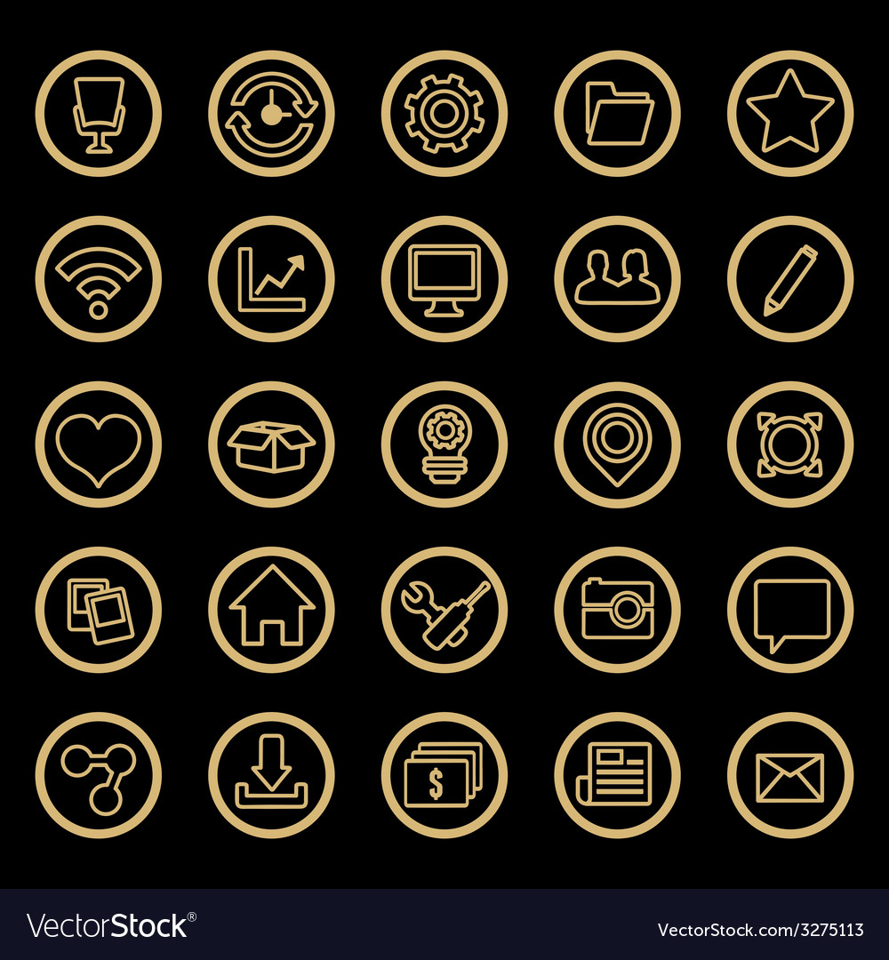 Set of web icons for design vector | Price: 1 Credit (USD $1)
