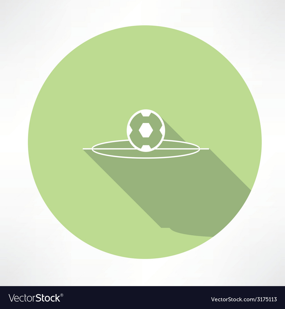 Soccer ball on football field icon vector | Price: 1 Credit (USD $1)