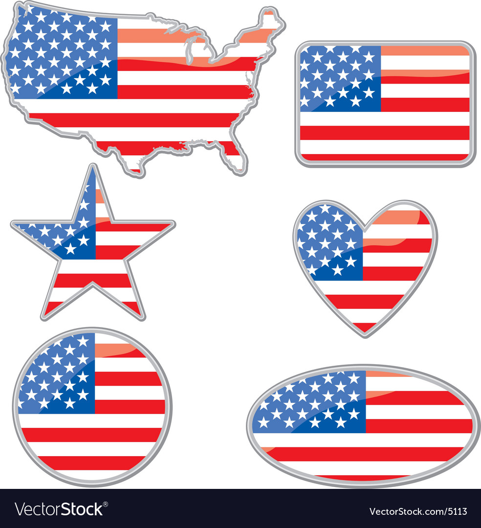 Usa placards vector | Price: 1 Credit (USD $1)