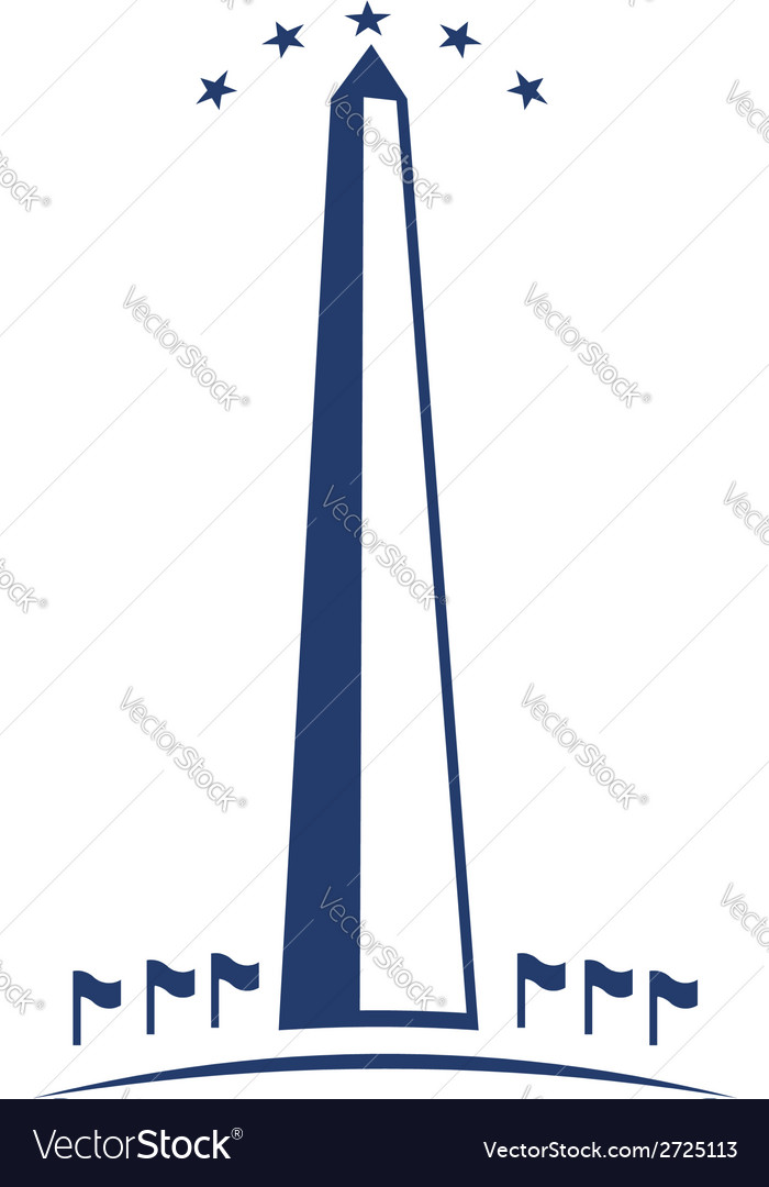 Washington monument image vector | Price: 1 Credit (USD $1)