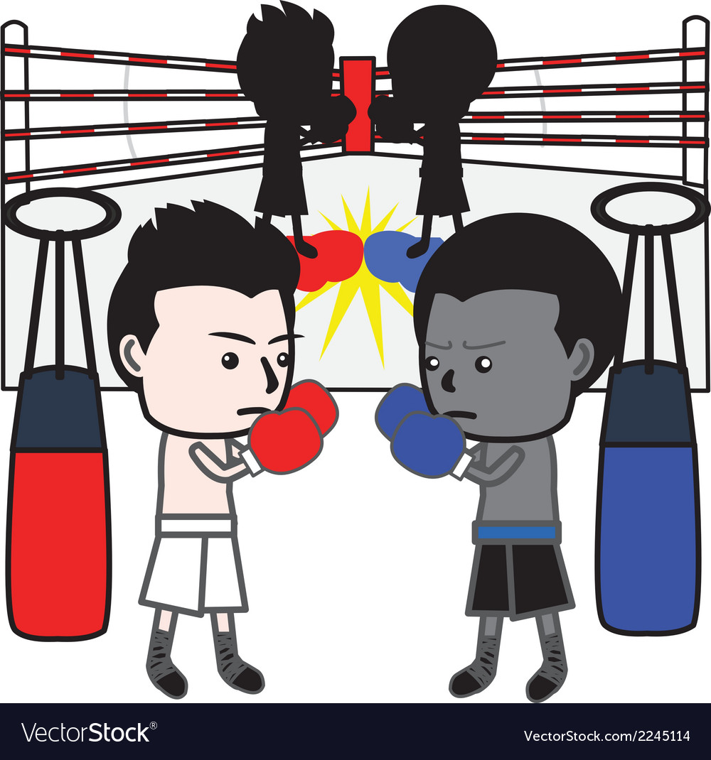 Boxing cartoon vector | Price: 1 Credit (USD $1)