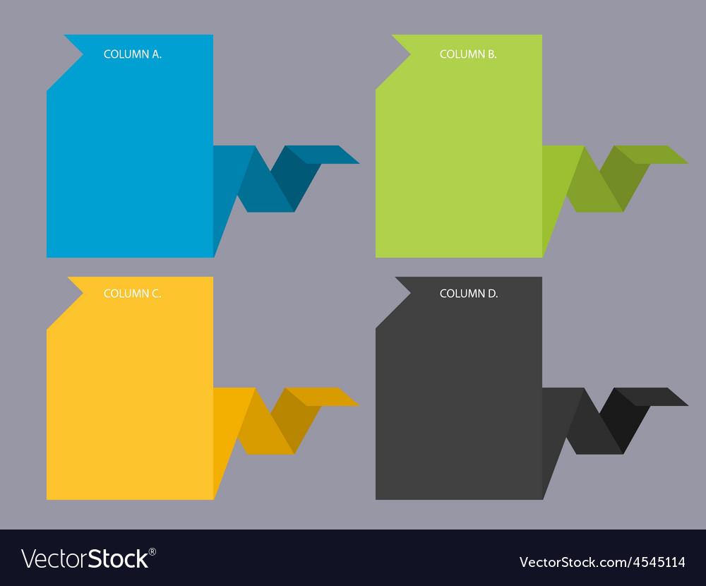 Creative web columns vector | Price: 1 Credit (USD $1)