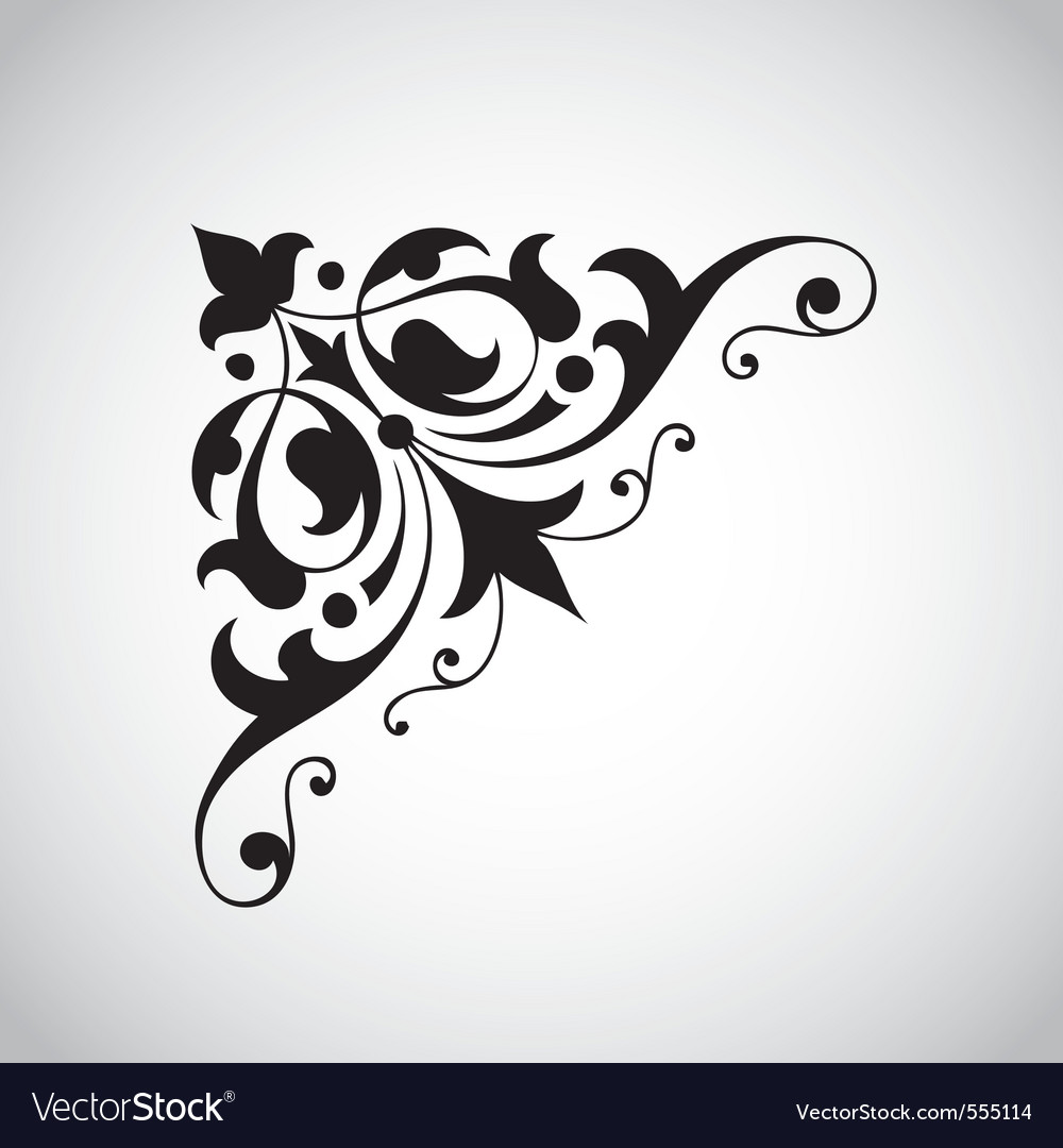 Decorative vintage design element vector | Price: 1 Credit (USD $1)
