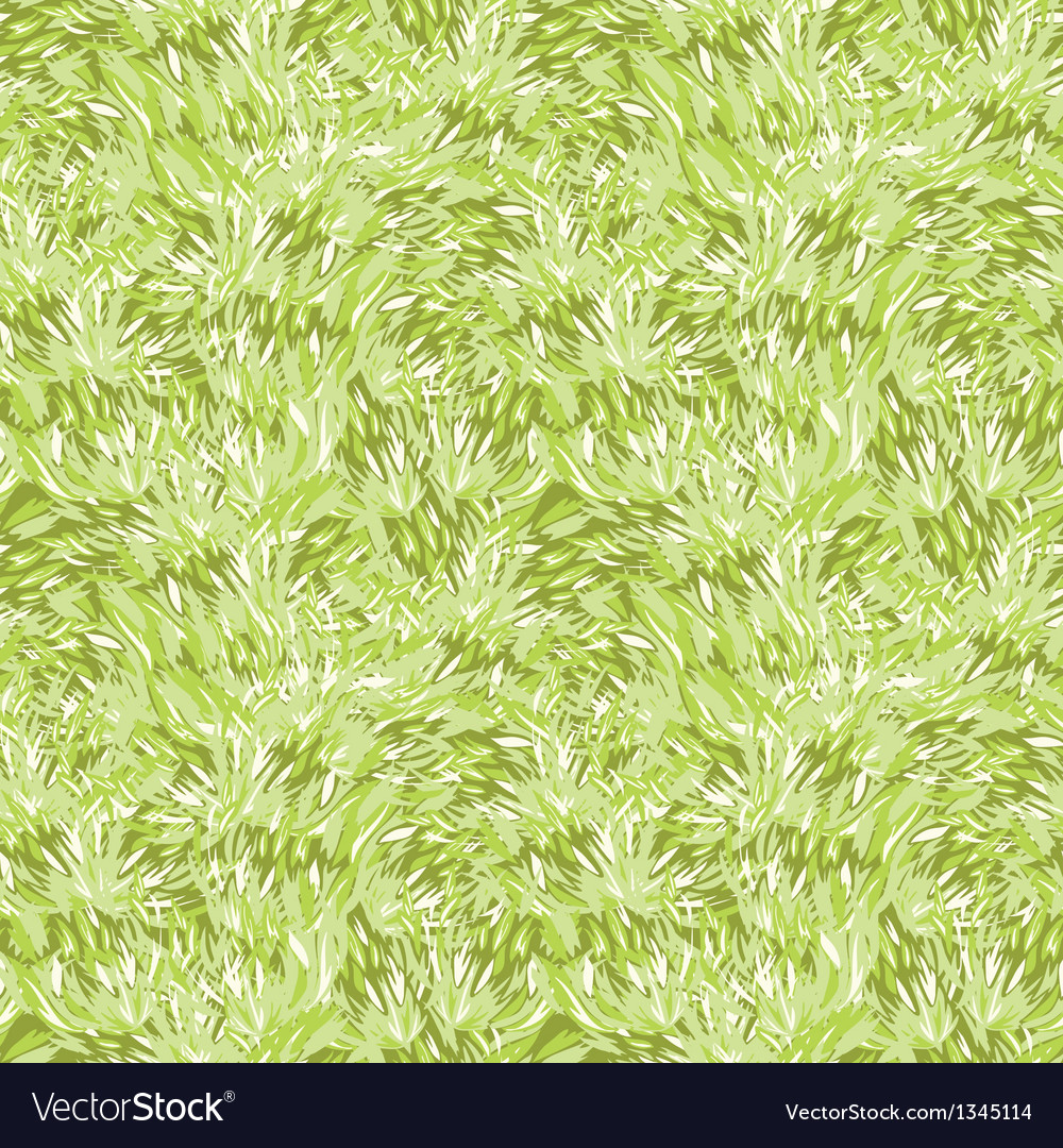 Green grass texture seamless pattern background vector | Price: 1 Credit (USD $1)