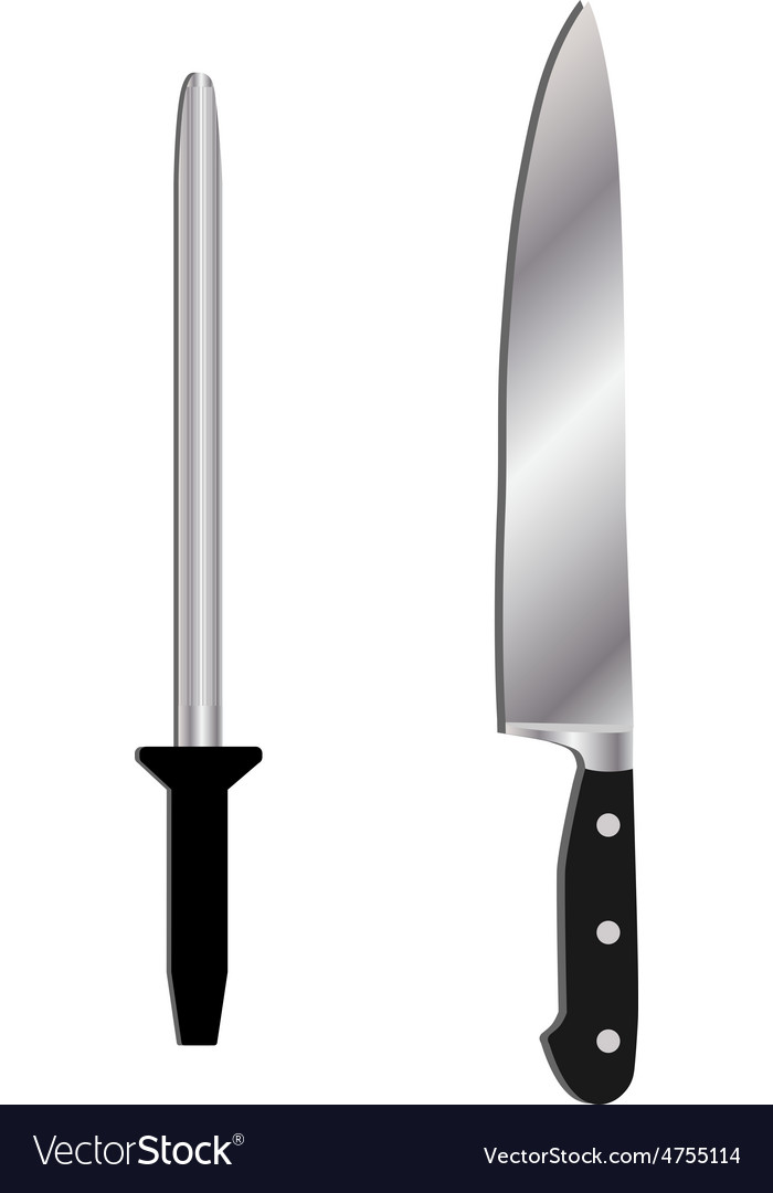 Knife and sharpener vector | Price: 1 Credit (USD $1)