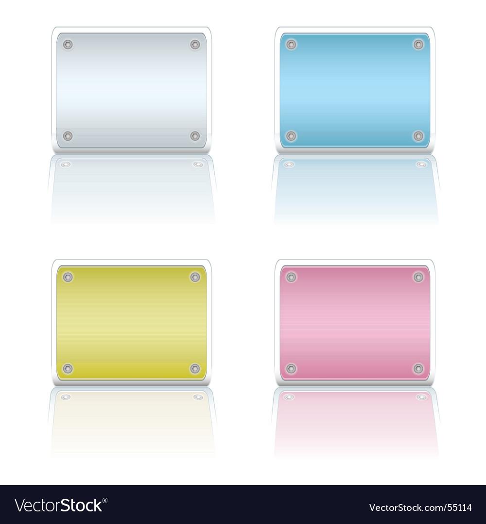 Metal plate variation vector | Price: 1 Credit (USD $1)