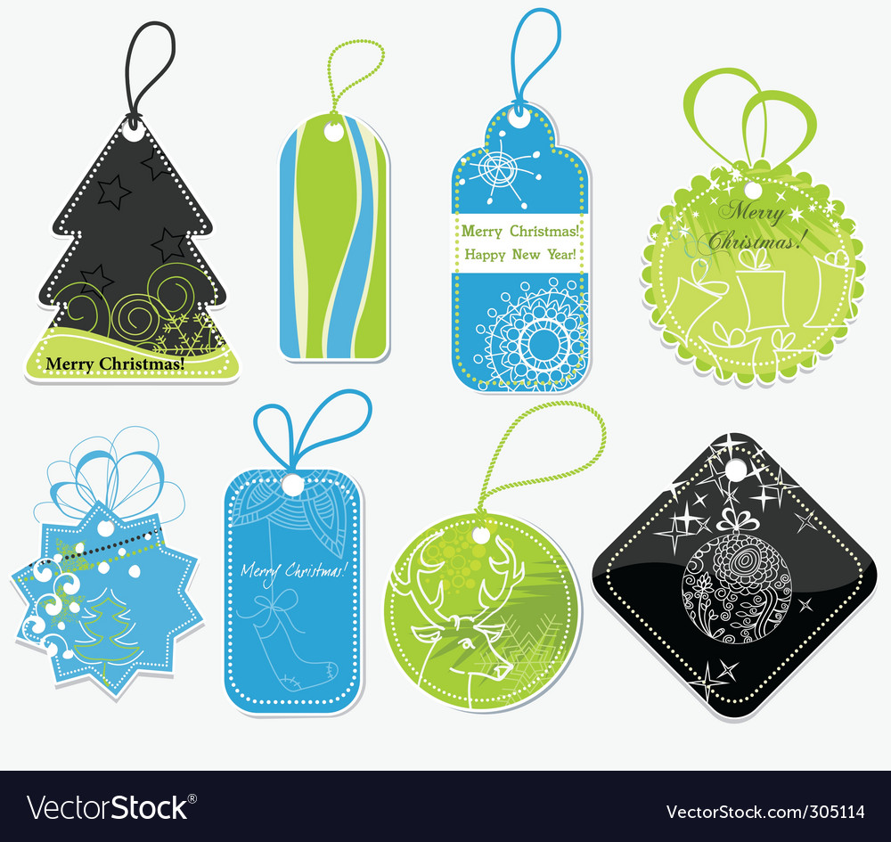 Stylish christmas price tags vector | Price: 1 Credit (USD $1)