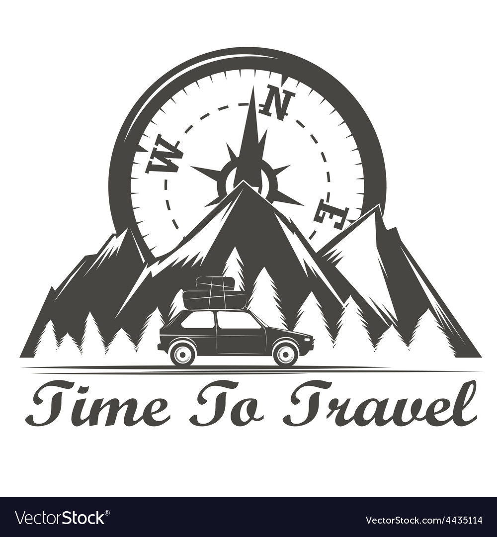 Wilderness travel emblem vector | Price: 1 Credit (USD $1)