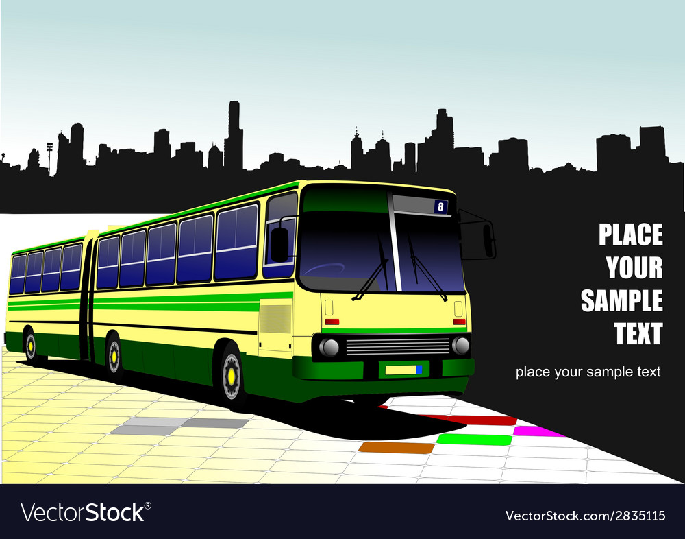 Al 1032 bus 02 vector | Price: 1 Credit (USD $1)