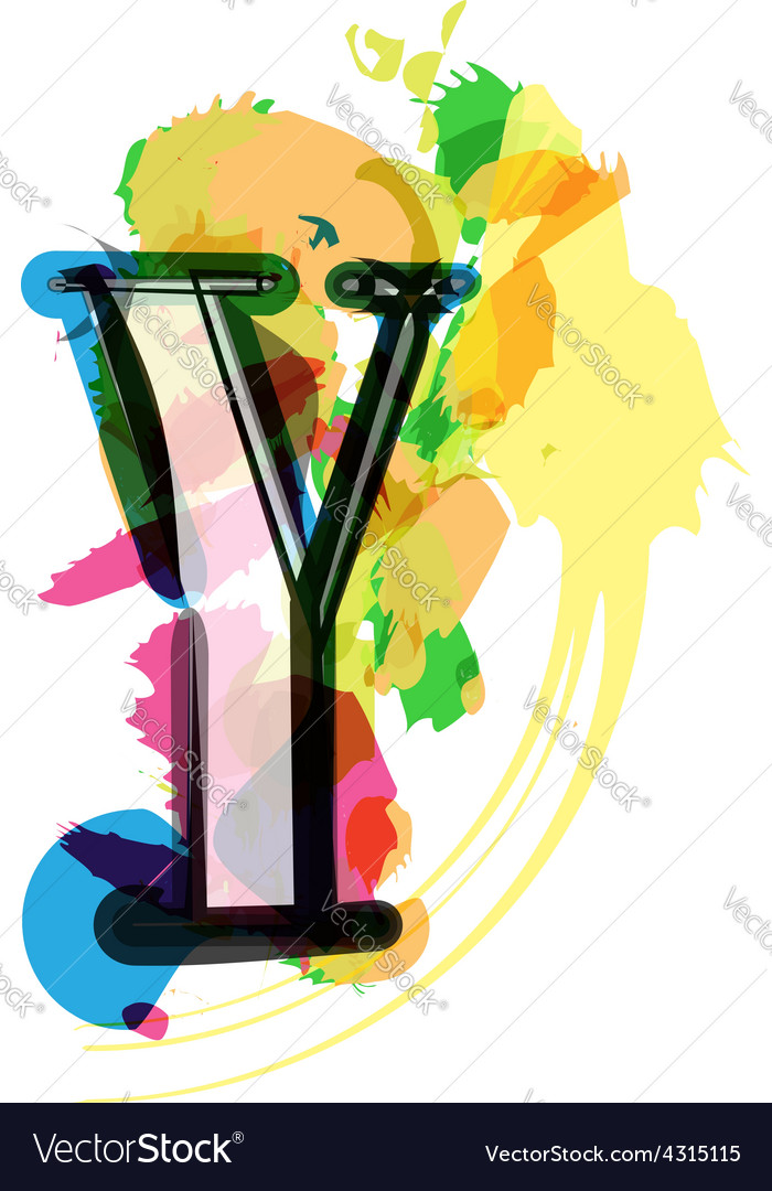 Artistic font - letter y vector | Price: 1 Credit (USD $1)
