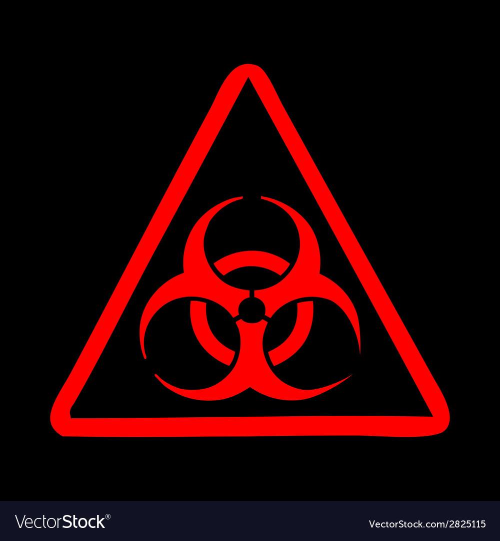 Biohazard symbol sign vector | Price: 1 Credit (USD $1)